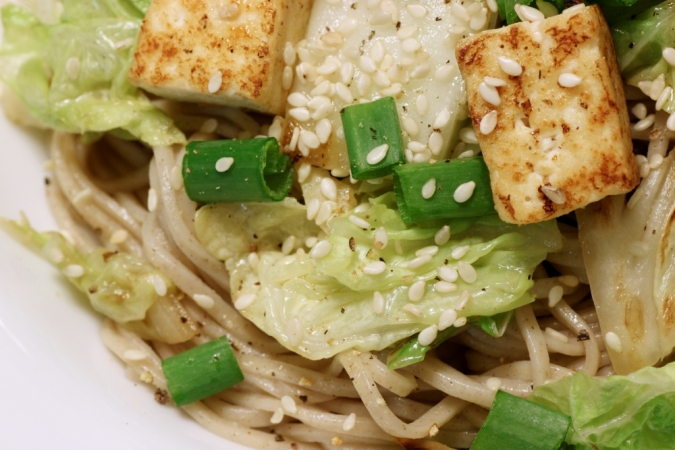 Soba with Napa Cabbage