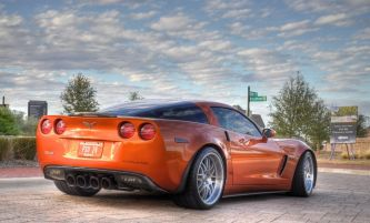 Corvette back view